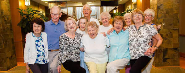 group of seniors posing