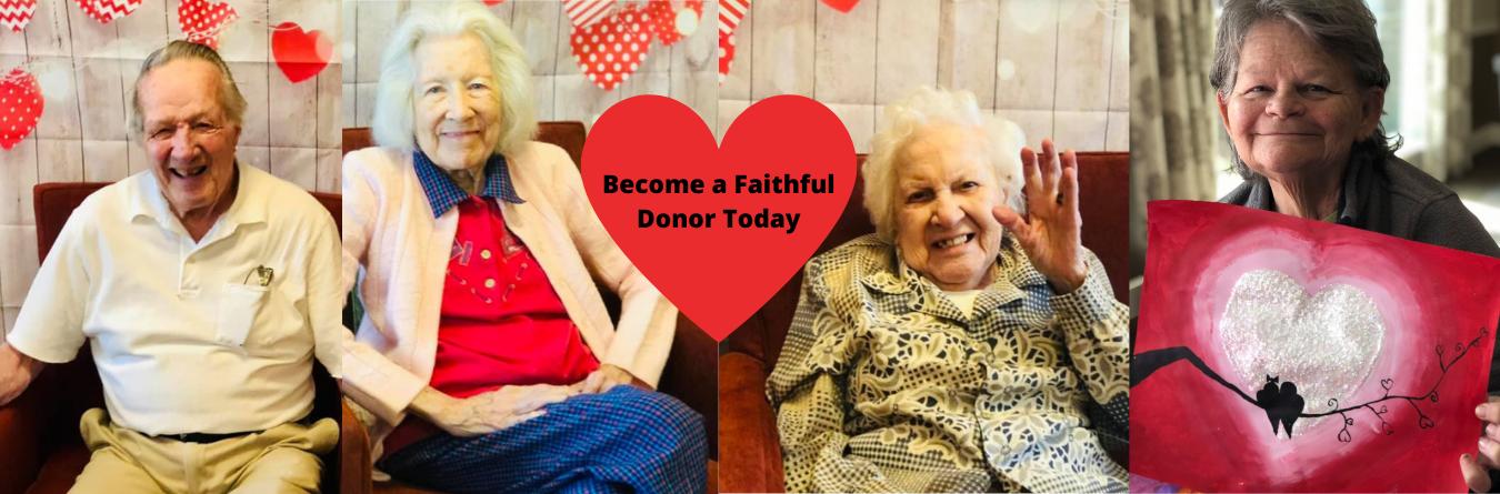 become a faithful donor